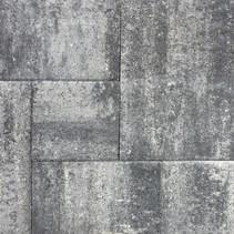 Terras-verband 4cm leisteen grijs/zwart
