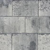 Terras-steen 20x30x4cm grijs/zwart