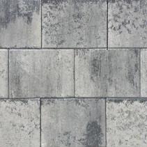 Terras-steen 20x30x3cm grijs/zwart