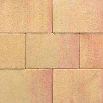Terras-steen 20x30x3cm zalm geel