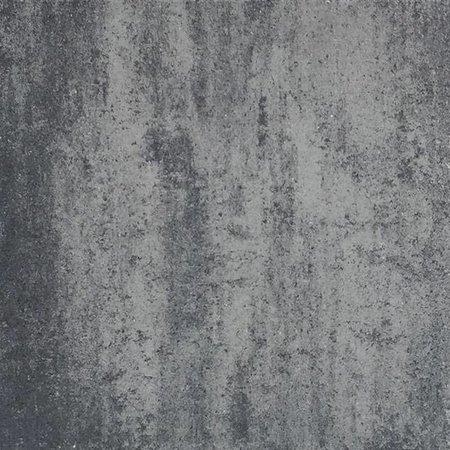 tuintegel 60x60x4 Grijs/Zwart