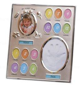 Baby fotolijst met kleiafdruk