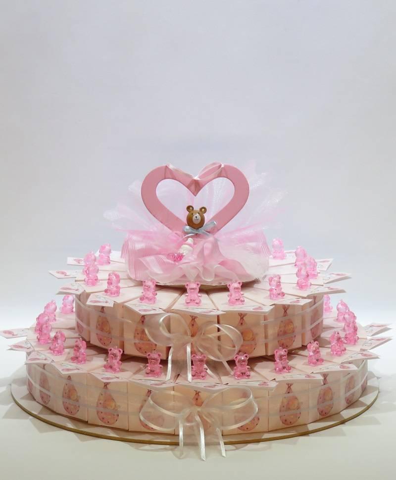 Geboorte bedankjes met roze beertjes. - Bedankjes Presentjes Smarties Bedrukken
