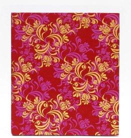 Prachtige rode gastenboek in roze gouden print