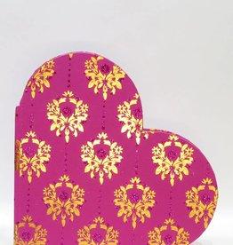 Gastenboek huwelijk in hartvormige roze kaft