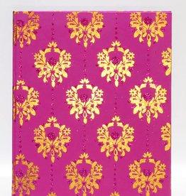 Zeer mooie gastenboek in goud en in fuchsia print