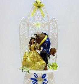 Bruidstaart topper Belle en het Beest