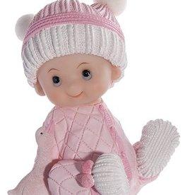 Baby meisje taarttopper in pyjama