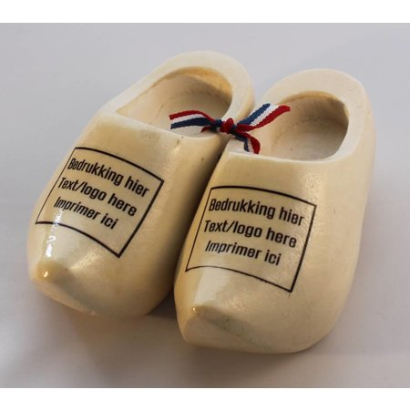 pair of woodenshoes 12cm with personal print
