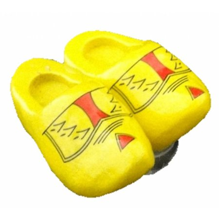 Double woodenshoe magnet farmer yellow