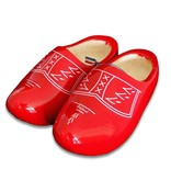 Traditional red woodenshoes