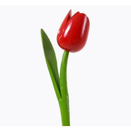 Houten tulp rood