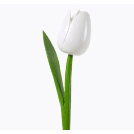 Wooden tulip white