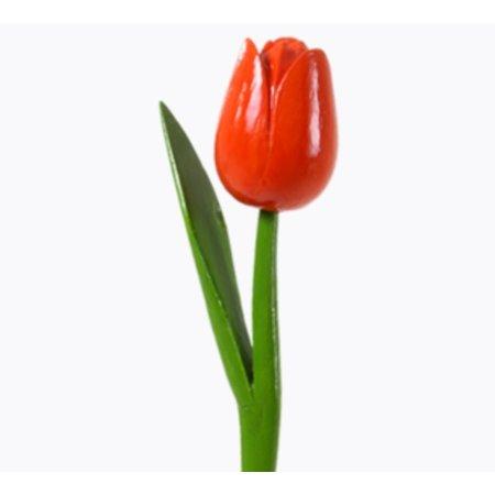 Houten tulp oranje