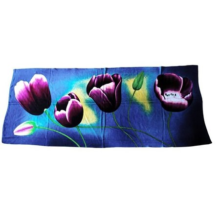 tulips Scarf blue