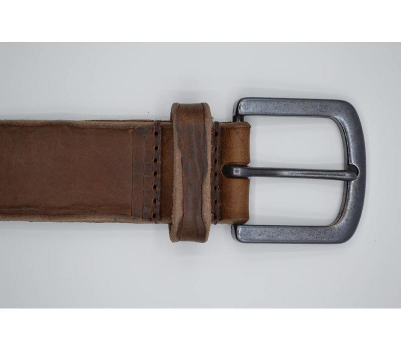 40mm brede riem van italiaans leder. Used look