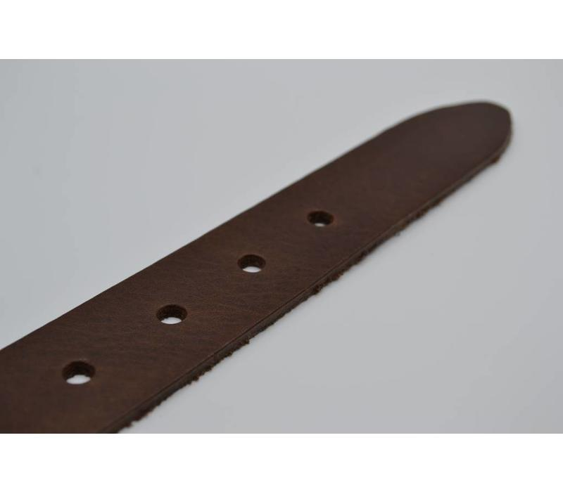 40mm brede riem van italiaans leder met nikkelvrije gesp