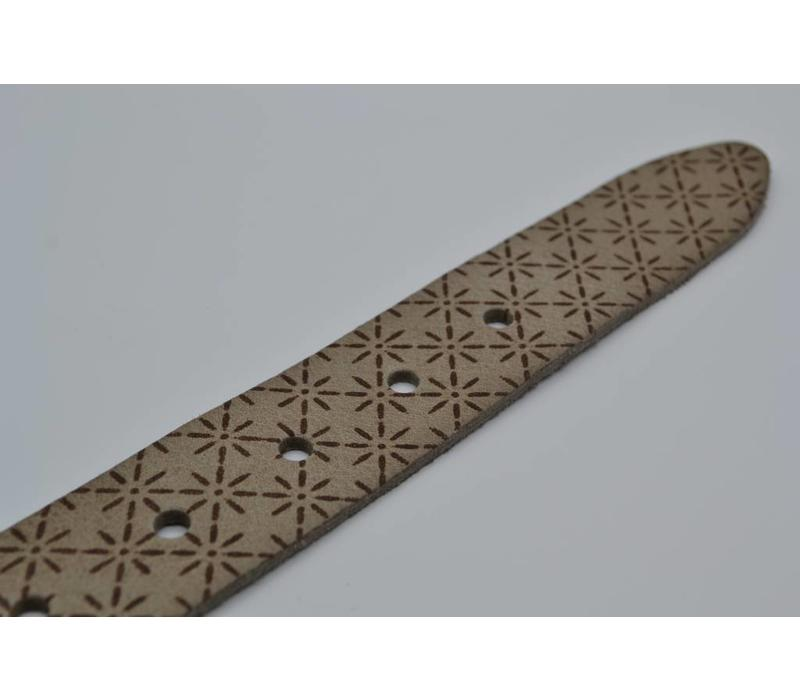 40mm brede riem van italiaans gewassen leder met ster laser