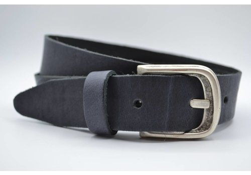 Scotts Bluf split lederen 35 mm antracite casual riem