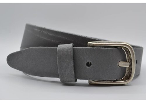 Scotts Bluf split lederen 35 mm grijze casual riem