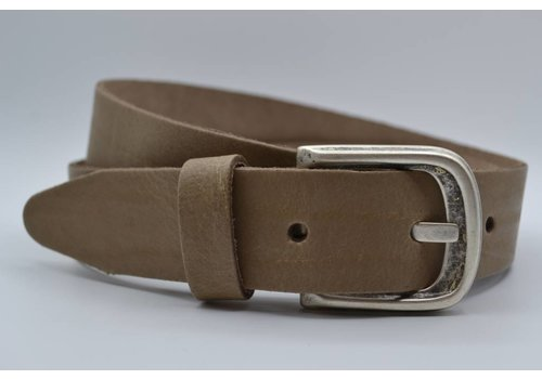 Scotts Bluf split lederen 35 mm taupe casual riem