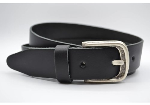 Scotts Bluf split lederen 35 mm zwarte casual riem