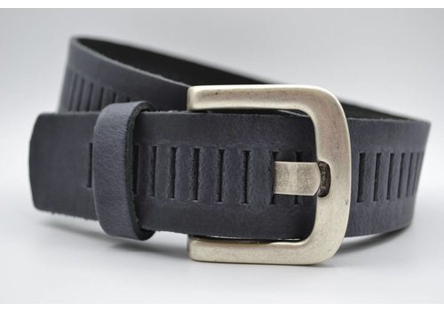 Scotts Bluf split lederen 40mm antracite casual perforatie riem