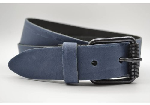 Scotts Bluf split lederen 40mm blauwe casual riem