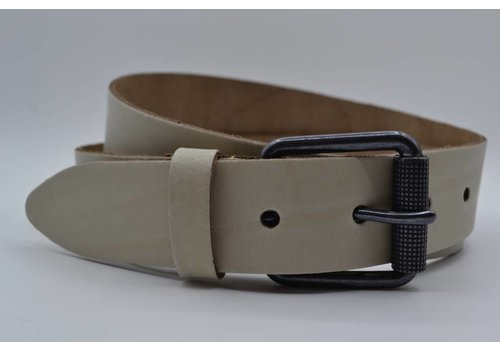 Scotts Bluf split lederen 40mm ecru casual riem