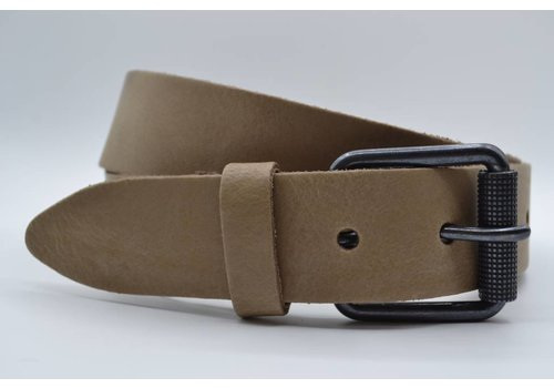 Scotts Bluf split lederen 40mm taupe casual riem