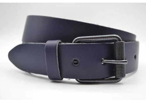 Scotts Bluf split lederen 40mm donker blauw casual riem