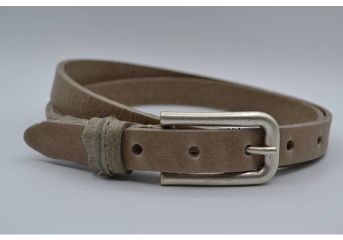 Rock 'n Rich taupe 20mm brede riem met speelse lus