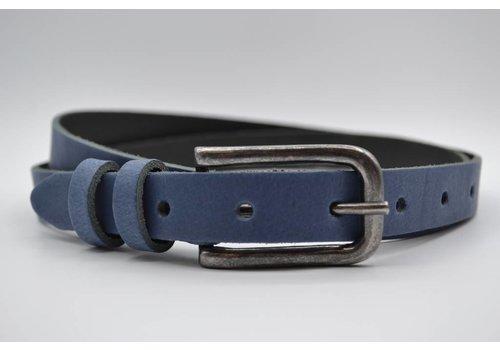 Rock 'n Rich blauwe 20mm brede riem met dubbele lus