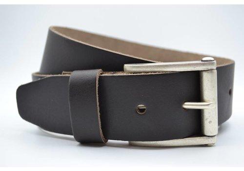 Scotts Bluf 4,5cm echt lederen casual donker bruine riem.