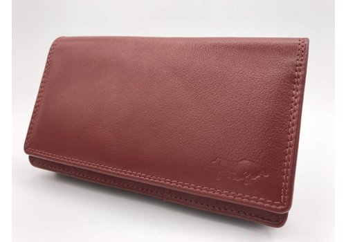 Arrigo extra grote rode Anti Skim portemonnee