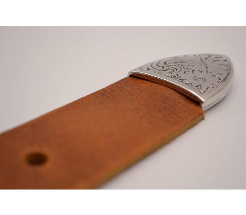 4cm brede western riem Italiaans leder geheel nikkel vrij de trend voor deze zomer.