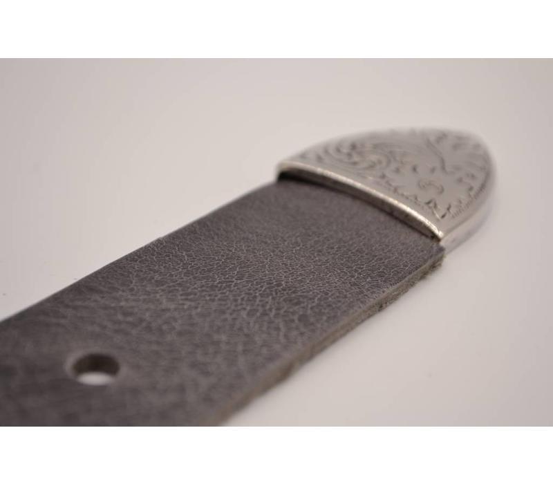 4cm brede western riem Italiaans leder geheel nikkel vrij de trend voor deze zomer