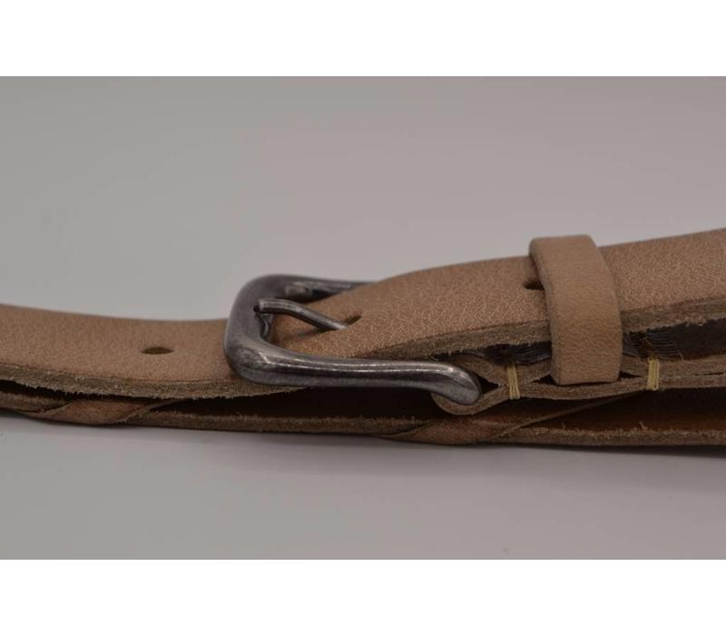 3cm brede echt Italiaans lederen riem. Volledig in Nederland geproduceerd.