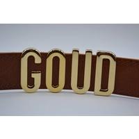 Zelf te personaliseren riem voor gouden of zilveren letters.