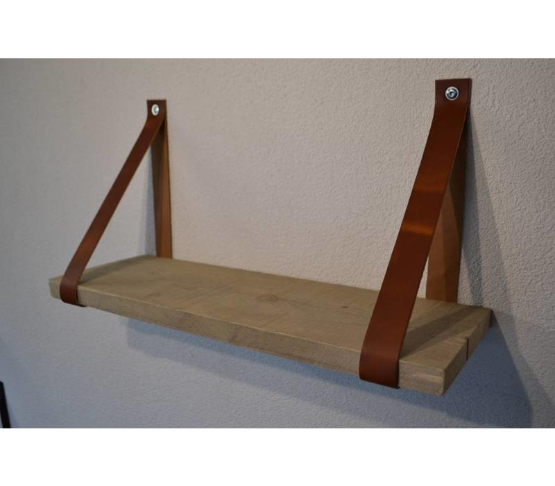 Een stoer product in onze collectie, Scotts Bluf cognac leren plankdragers!