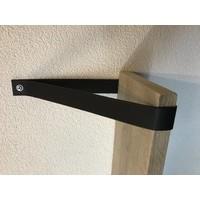 Een stoer product in onze collectie, Scotts Bluf zwart leren plankdragers!
