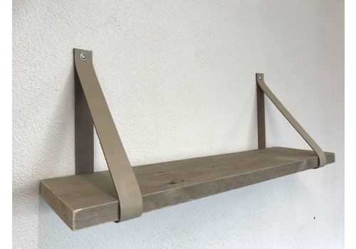 Scotts Bluf Leren Plankdragers ecru inclusief plank
