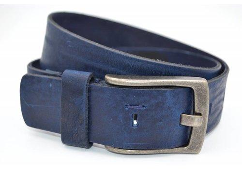 Scotts Bluf Stoere blauwe riem met gave details