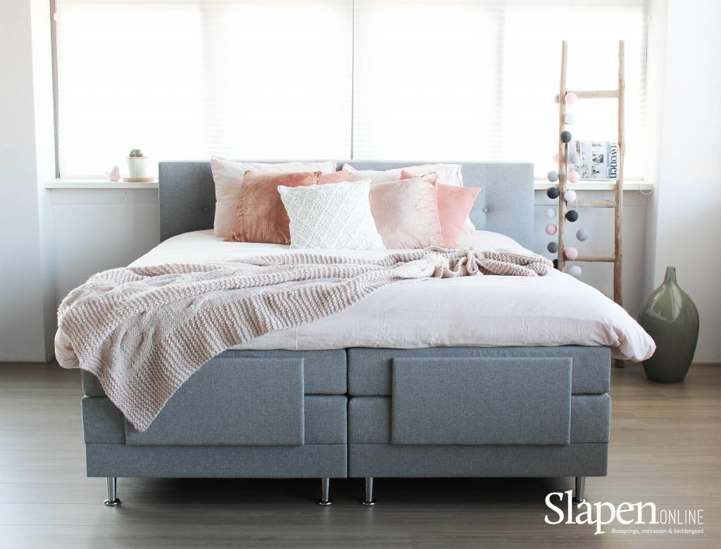 boxspring gratis levering montage slapen online. Black Bedroom Furniture Sets. Home Design Ideas
