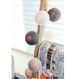 Cotton ball lights roze/grijs 20L