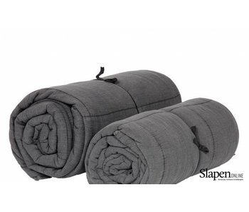 MrsBloom Quilted cotton throw charlotte dark grey