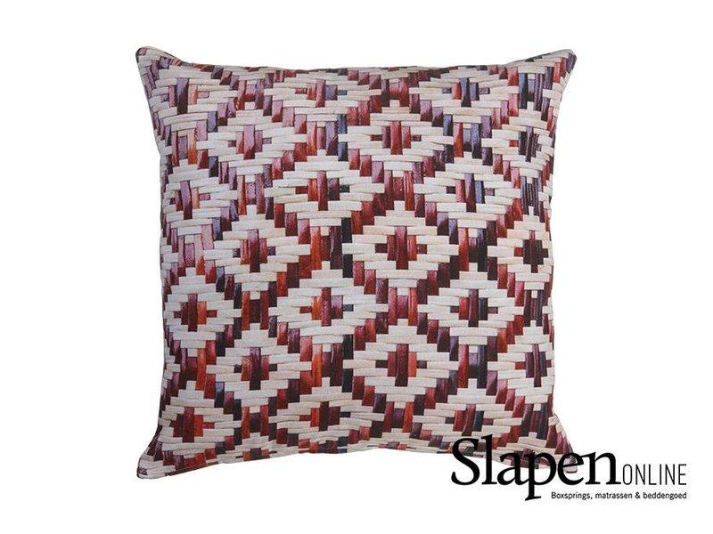 Kaat Amsterdam Sierkussen Red Weaving