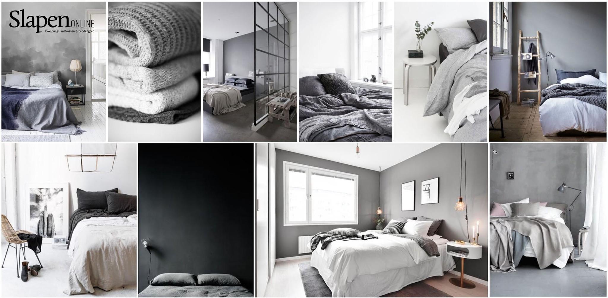 De kleur grijs in de slaapkamer bij Slapen Online