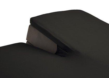 split topper hoeslaken antraciet kopen. Black Bedroom Furniture Sets. Home Design Ideas