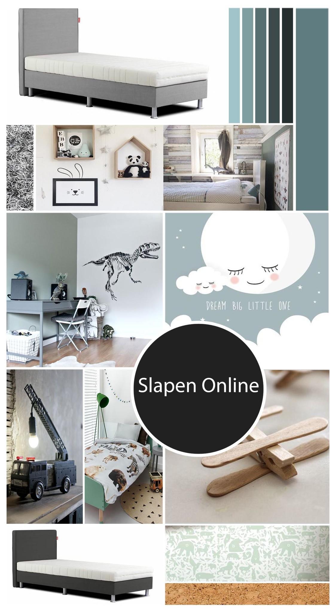 Moodboard kinderkamer bij Slapen Online
